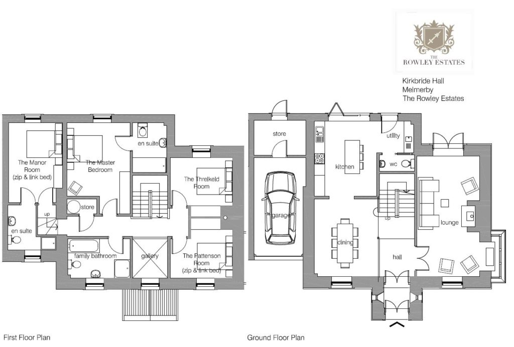 Kirkbride Hall floor plan - click to view as PDF