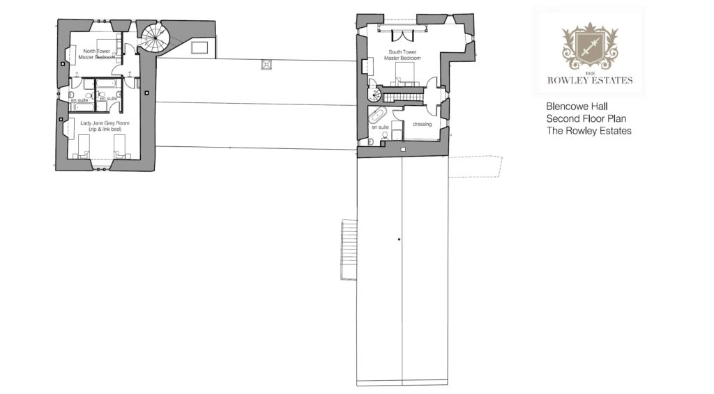 Blencowe Hall second floor floor plan - click to view as PDF