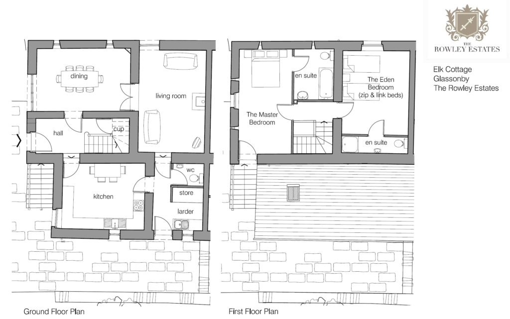 Elk Cottage floor plan - click to view as PDF