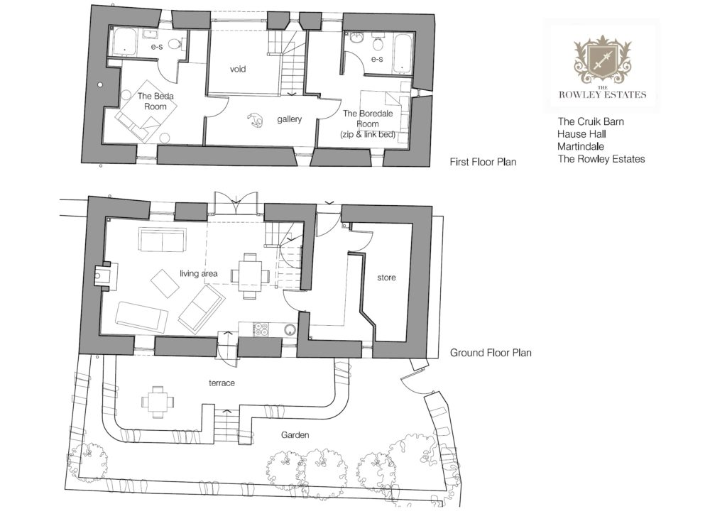 Hause Hall Cruik Barn floor plan - click to view as PDF