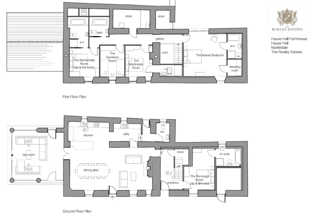 Hause Hall farm house floor plan - click to view as PDF