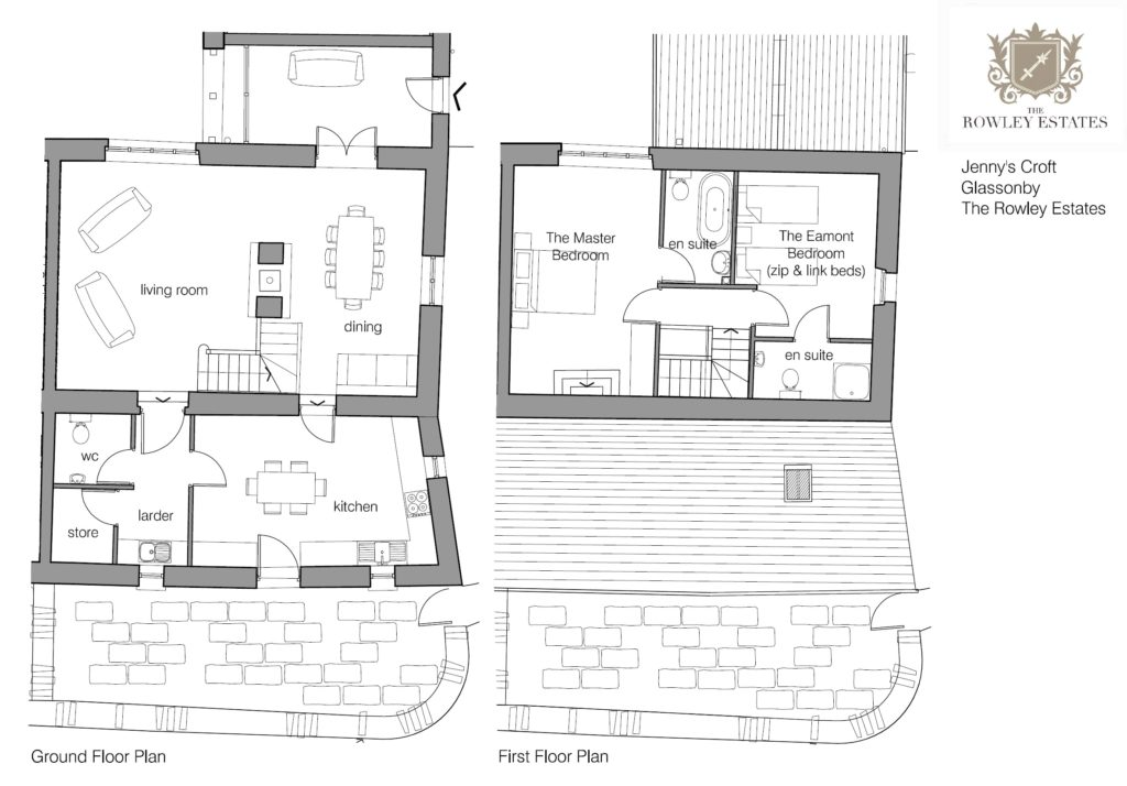 Jenny's Croft floor plan - click to view as PDF