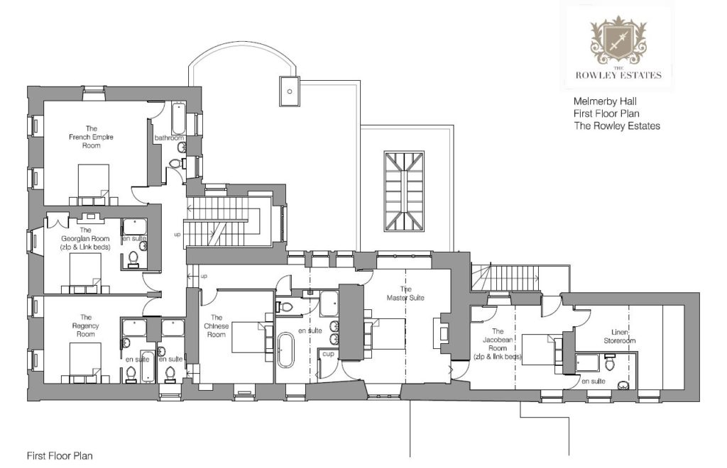 Melmerby Hall First Floor Plan - click to view as PDF