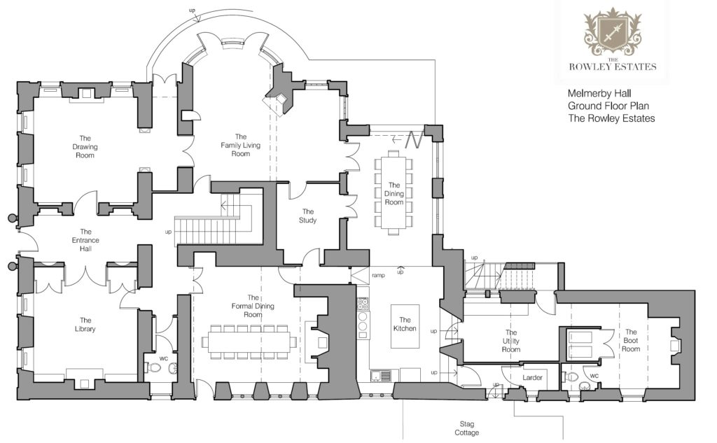 Melmerby Hall Ground Floor Plan - click to view as PDF