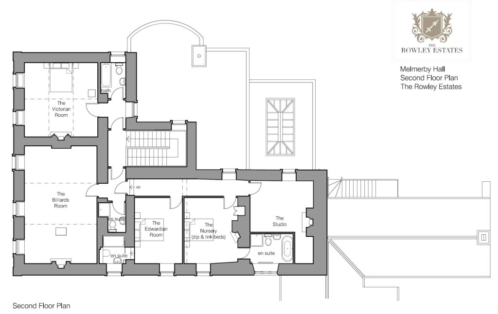 Melmerby Hall Second Floor Plan - click to view as PDF
