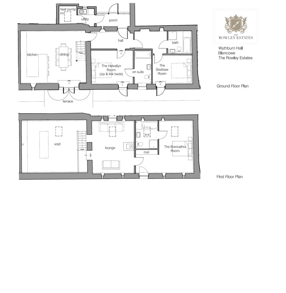 Wythburn Cottage floor plan - click to view as PDF