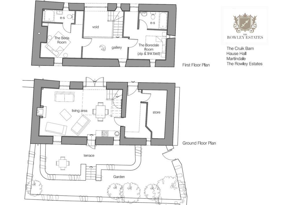 Hause Hall Cruik Barn floor plan - click to view as PDF