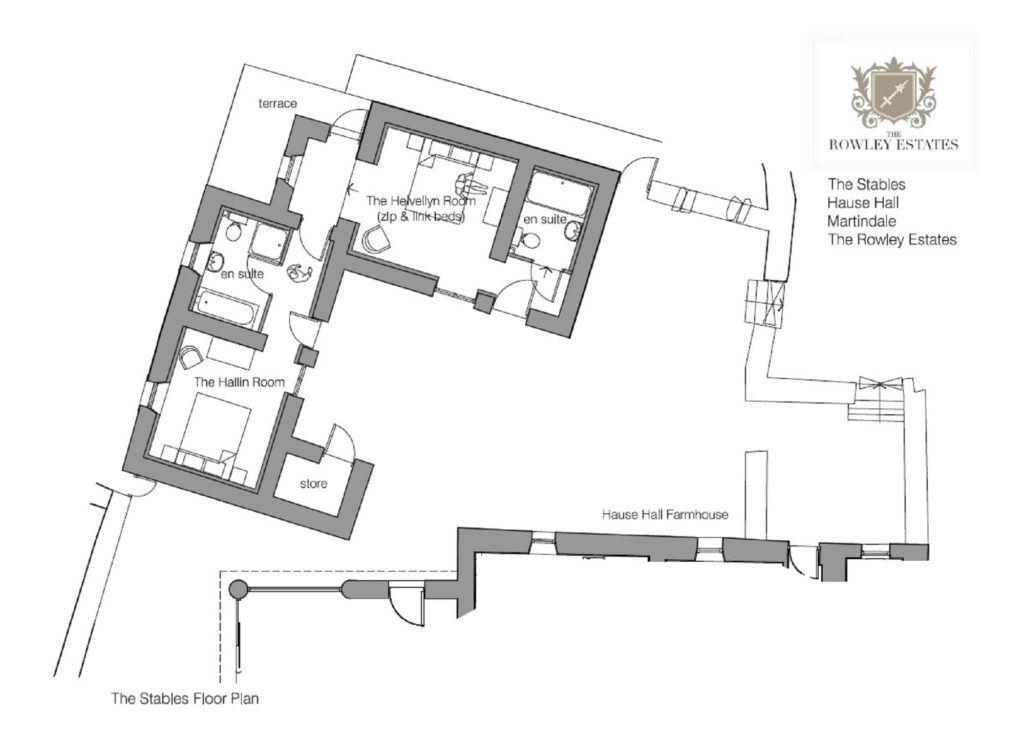 Hause Hall Stables floor plan - click to view as PDF