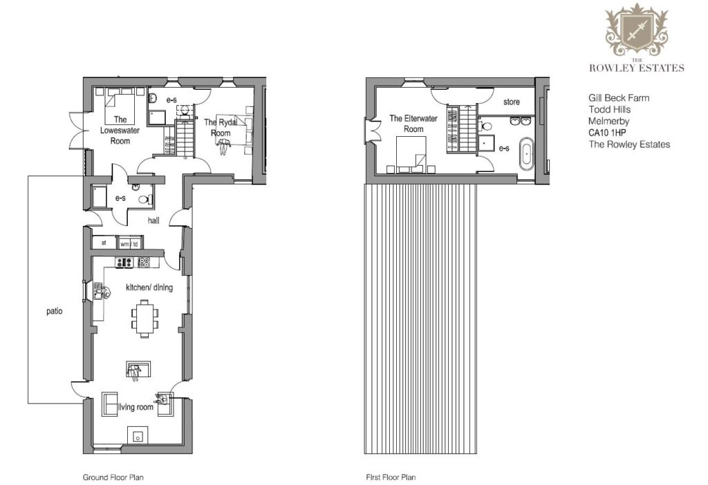 Gill Beck Barn floor plan - click to view as PDF