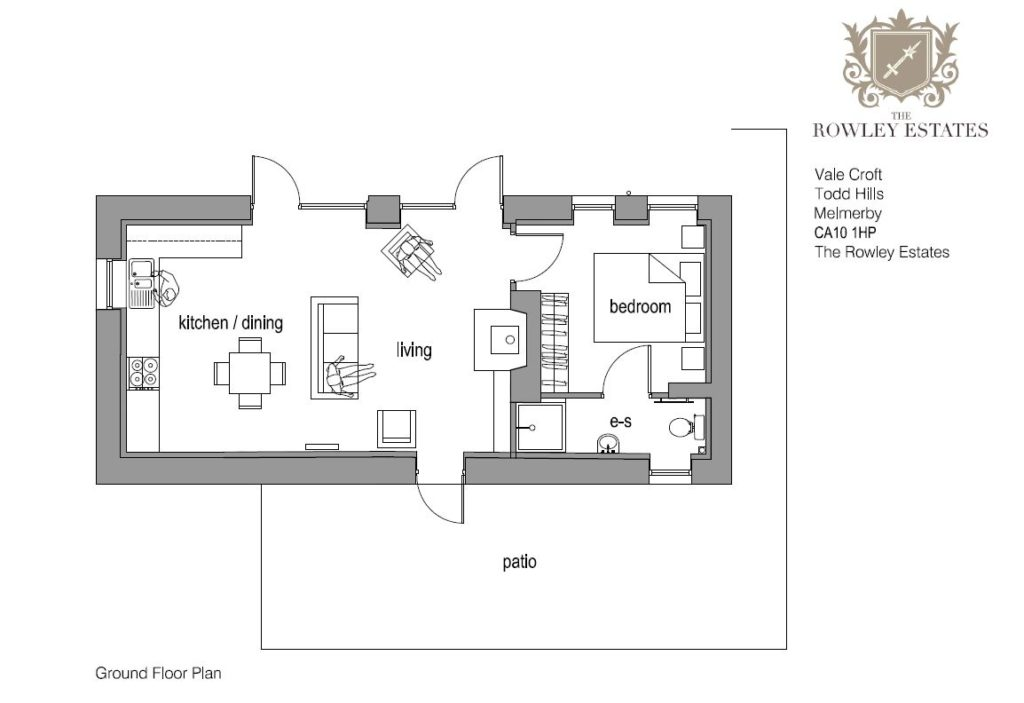 Vale Croft floor plan - click to view as PDF